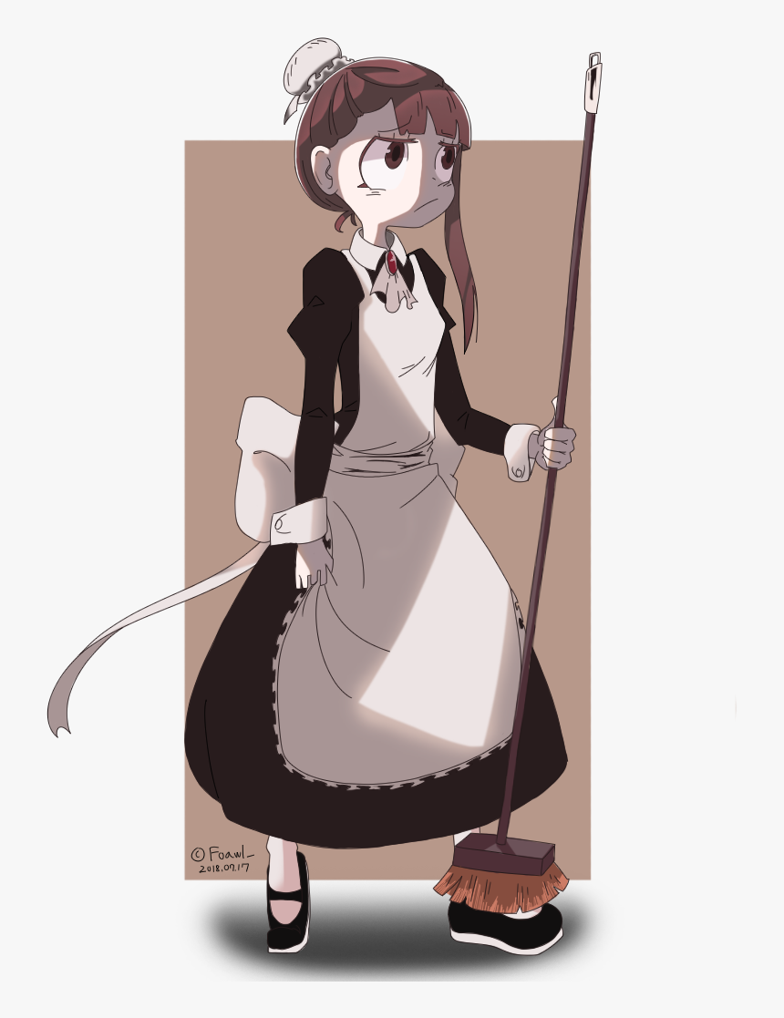 Hair,art,fictional - Little Witch Academia Maid, HD Png Download, Free Download