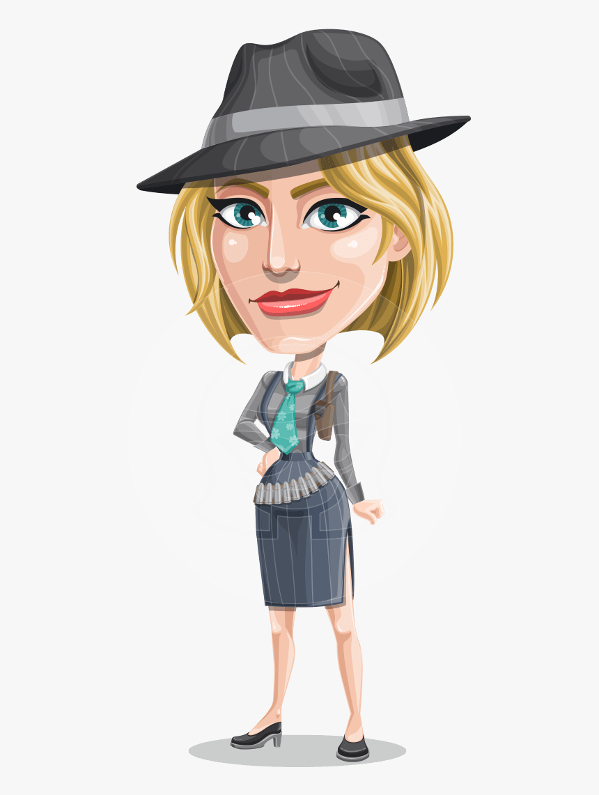 Blonde Bank Robber Girl Cartoon Vector Character Aka - Women Cartoon Character, HD Png Download, Free Download