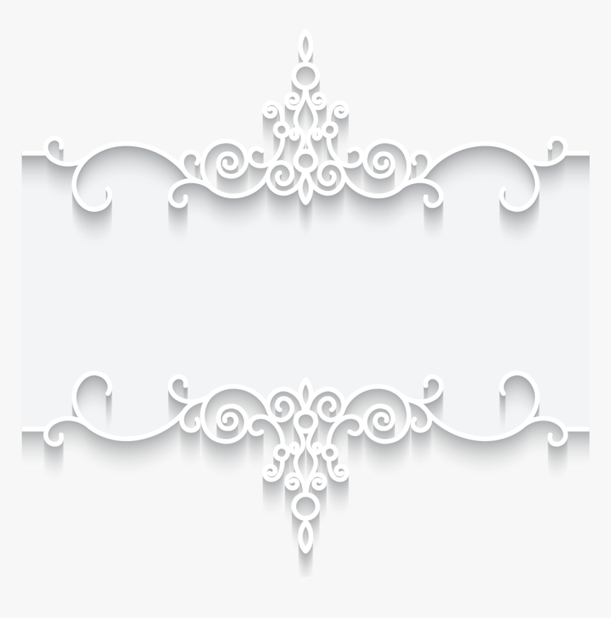 Transparent Lace Clipart Vector - Free Black And White Lace Borders, HD Png Download, Free Download