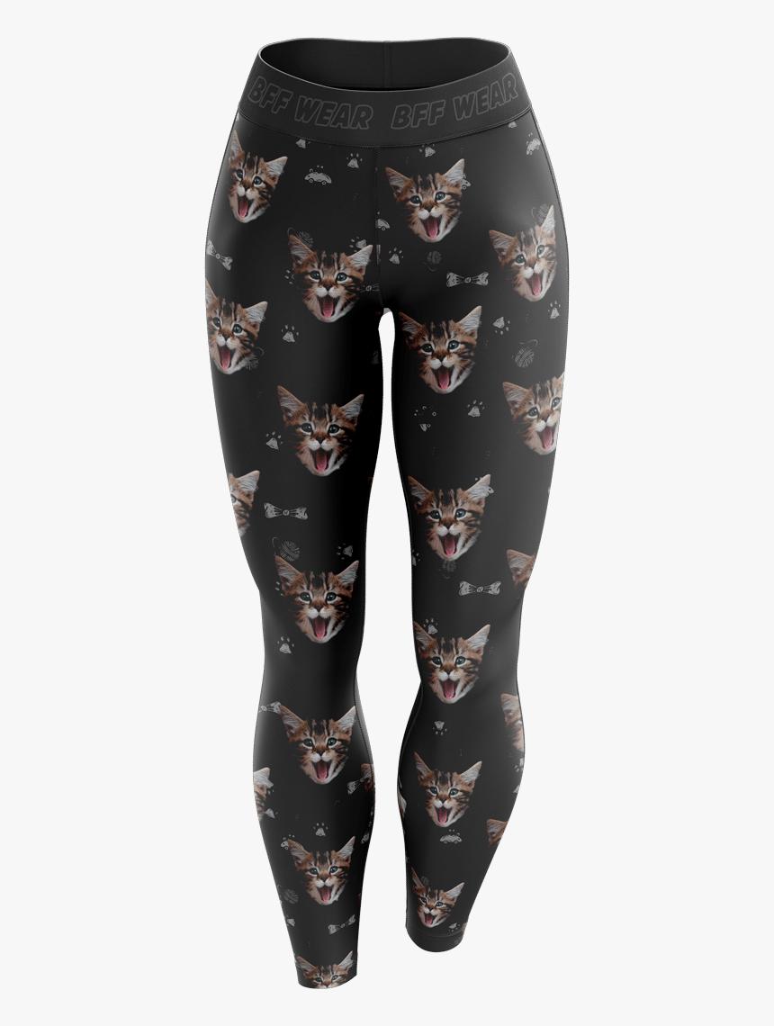 Custom Cat Leggings - Tights, HD Png Download, Free Download