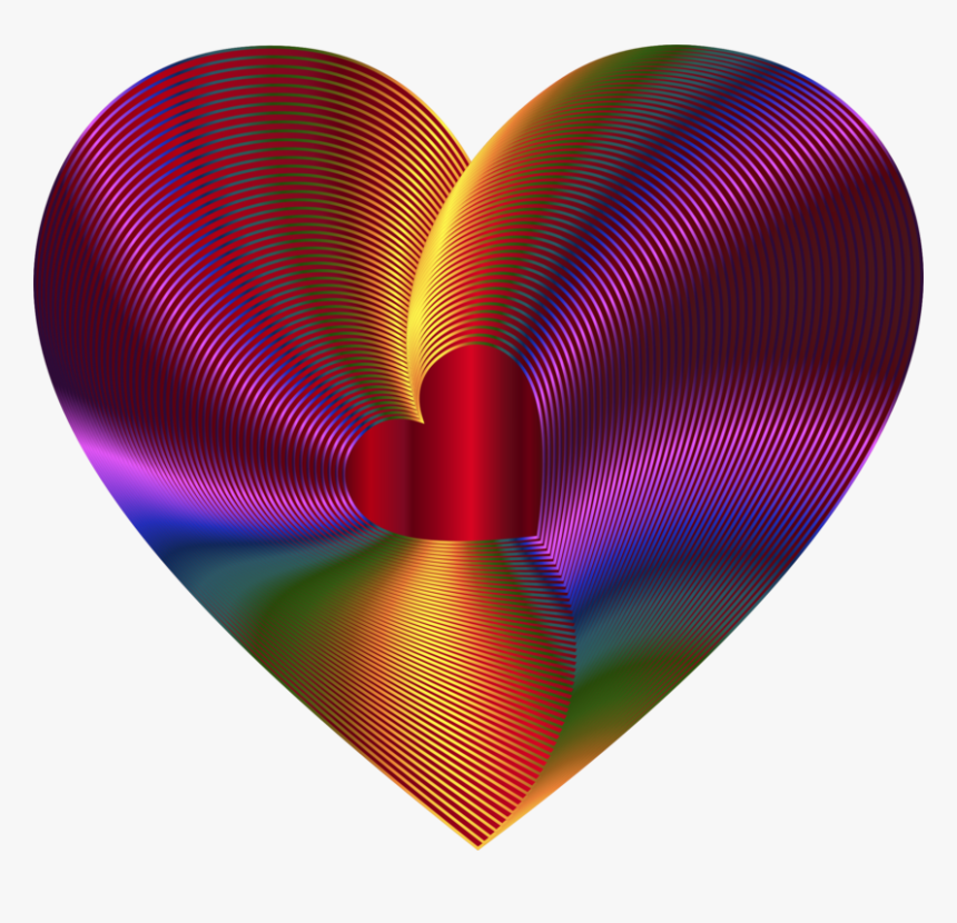 Heart,magenta,circle - Heart Rainbow Red, HD Png Download, Free Download