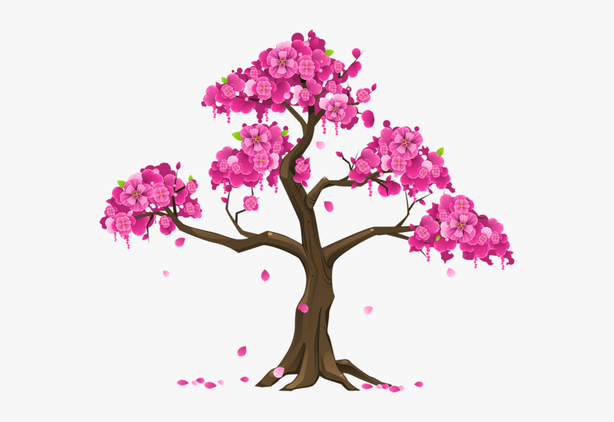 Tree Branch Png Clipart - Cherry Blossom Tree Clipart, Transparent Png, Free Download