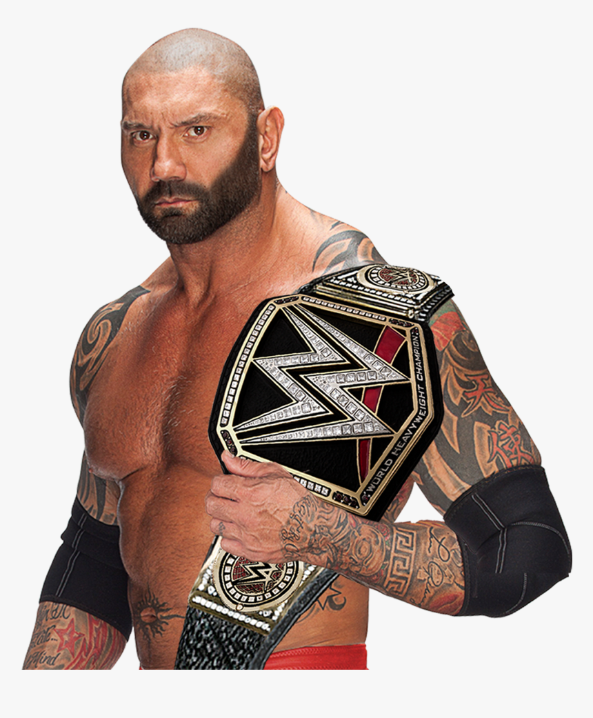 Batista Wwe World Heavyweight Championship By Islam - Batista With Wwe Belt, HD Png Download, Free Download