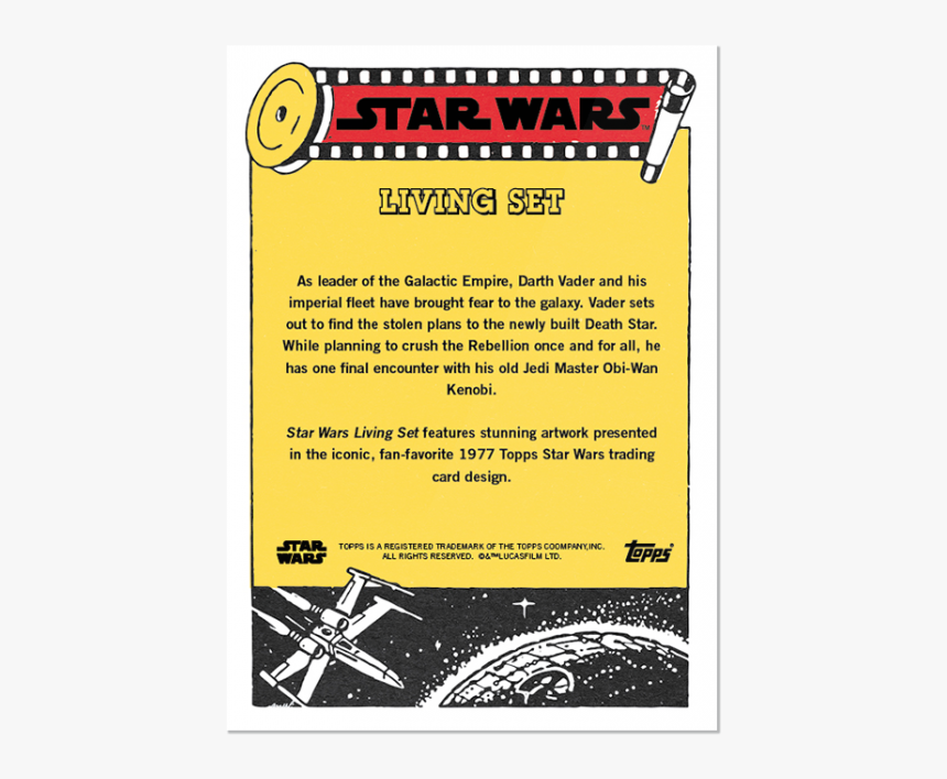 Topps Star Wars Living Set Card - Star Wars Collectible Cards Back, HD Png Download, Free Download