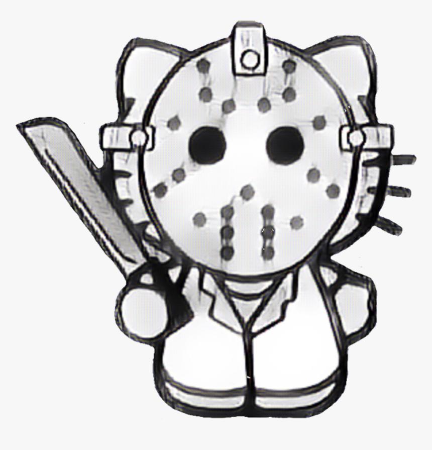 Horror Gore Movie Jason Mask Killer Blood Hk Hellokitty - Hello Kitty Jason Mask, HD Png Download, Free Download