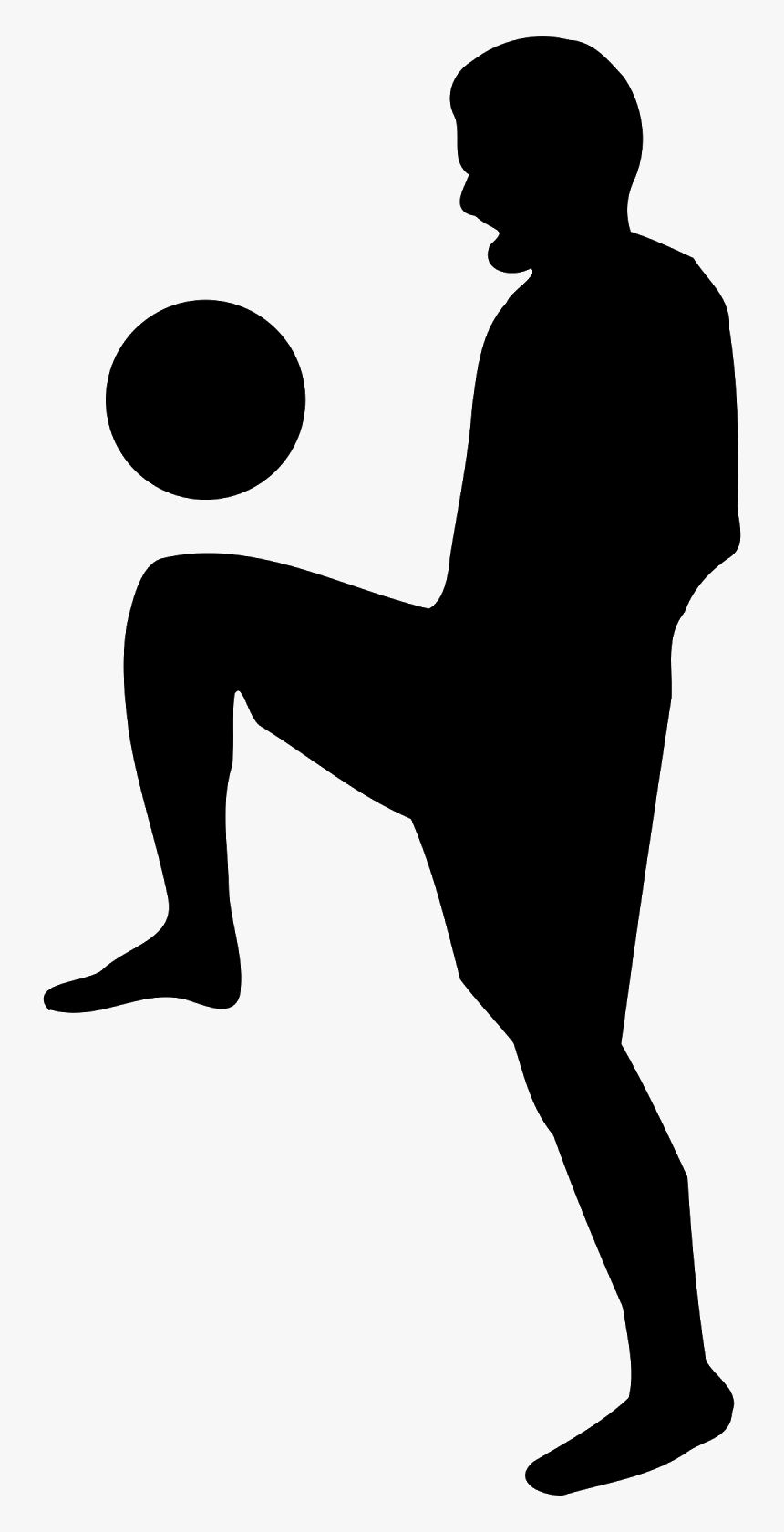 Soccer Kids Clip Art Black And White - Soccer Silhouette Gif, HD Png Download, Free Download