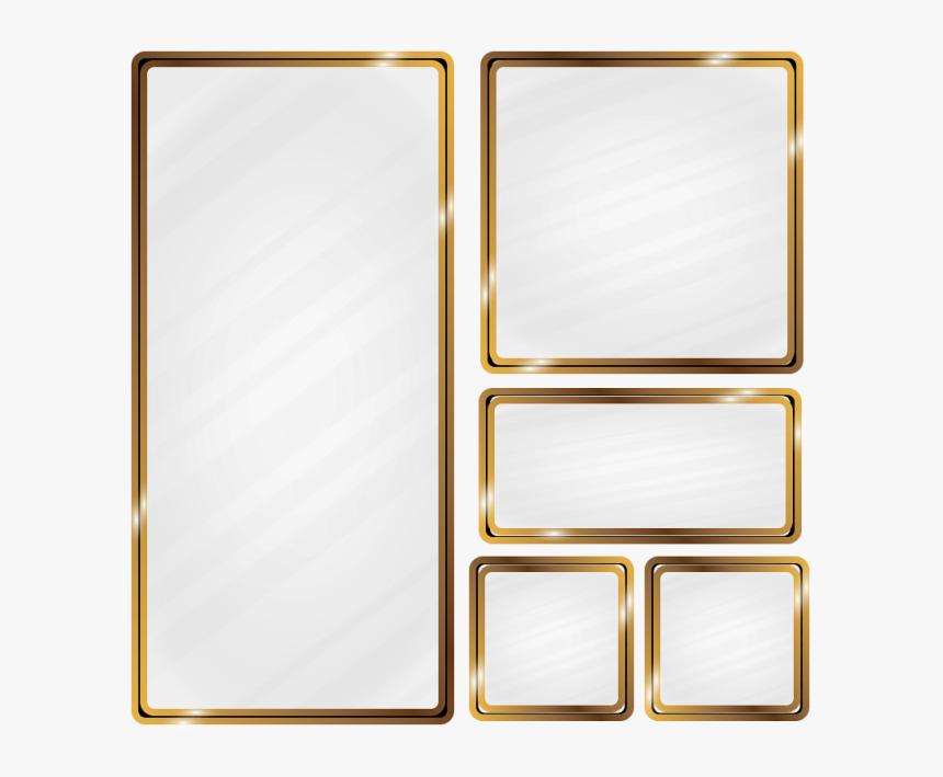 Metallic Vector Golden - Gold Metallic Frame Vector, HD Png Download, Free Download