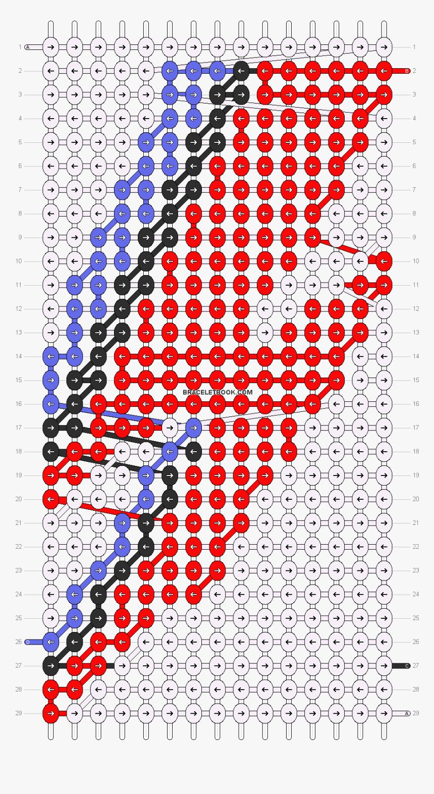 Alpha Pattern David Bowie Friendship Bracelet Patterns Hd Png Download Kindpng
