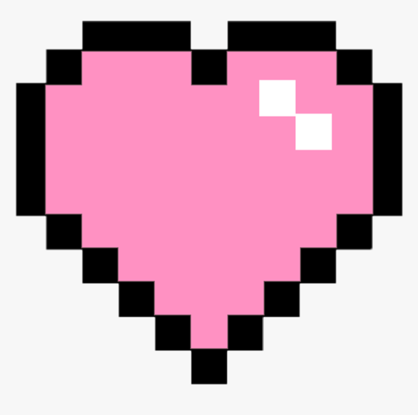 Pixel Clipart Pink - Pixel Heart Transparent, HD Png Download, Free Download