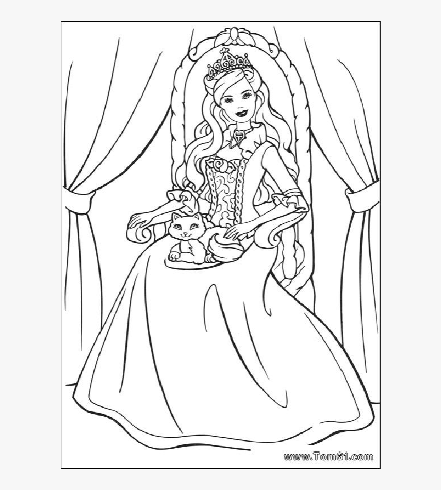 Barbie Disney Princess Coloring Book Child Barbie And The Princess Pauper Drawing Hd Png Download Kindpng