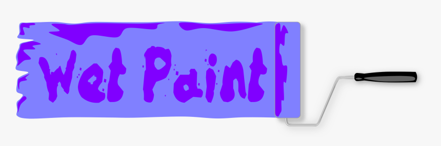 Wet Paint Sign Clip Arts - Wet Paint Sign, HD Png Download, Free Download