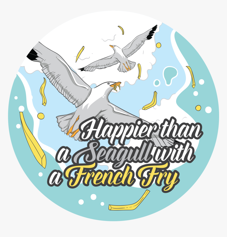 """Happier Than A Seagull""""  Class=""""lazyload Lazyload Mirage - Graphic Design, HD Png Download, Free Download"""
