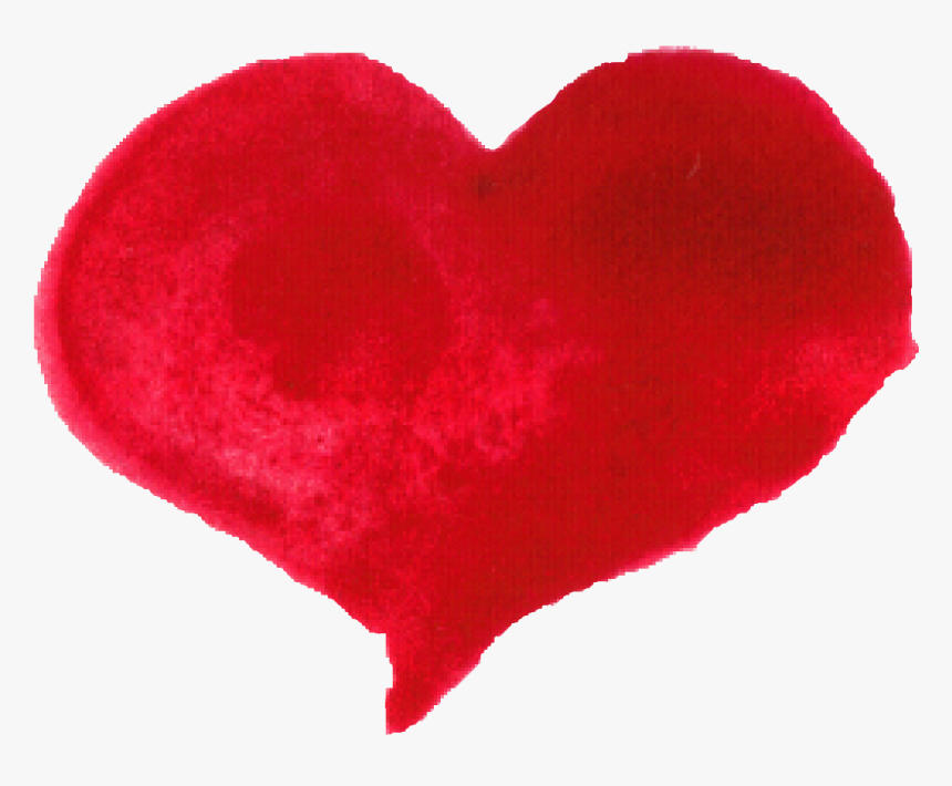 Red Watercolor Heart - Vector Heart Watercolor Png, Transparent Png, Free Download