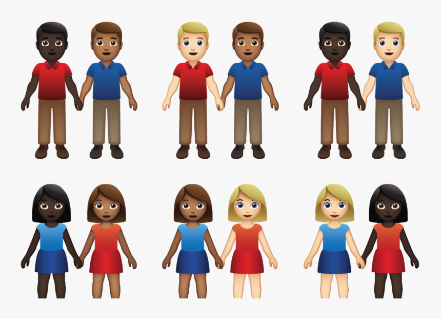 Apple Unveils New Queer Emojis, But There Still Won't - Emoji Couple, HD Png Download, Free Download