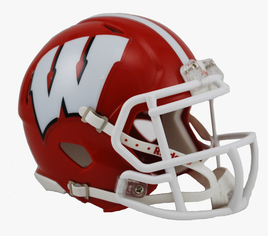 Wisconsin Badgers Red Riddell Mini Speed Helmet - Rutgers Helmet Png, Transparent Png, Free Download