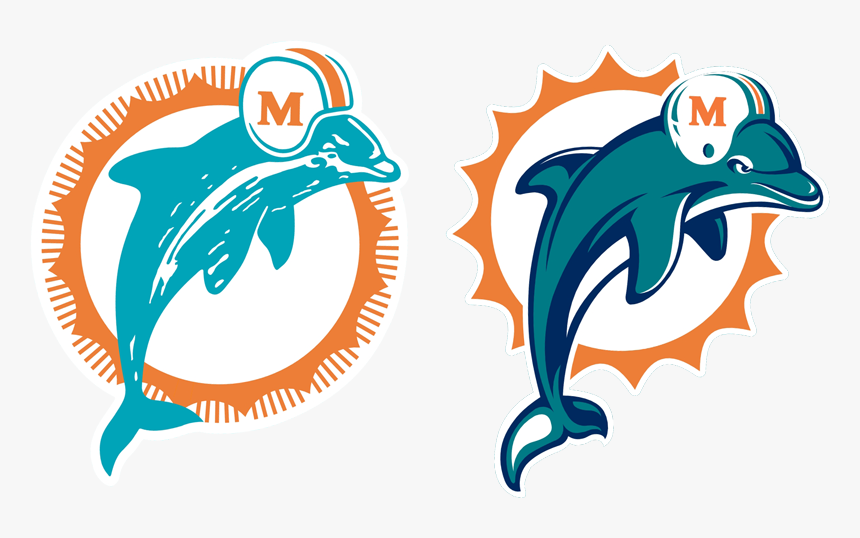 Dolphins Logo From 1966 - Miami Dolphins Logo Old, HD Png Download, Free Download