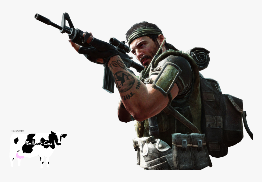 Bo2 Sniper Character Brand - Call Of Duty Png, Transparent Png, Free Download