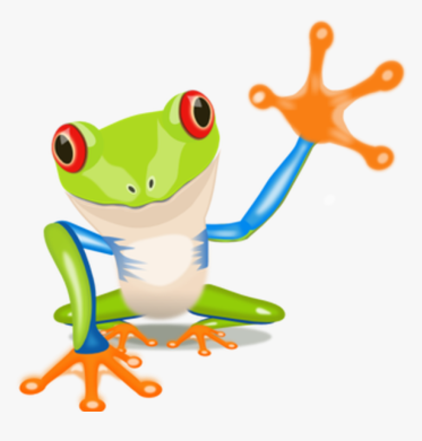Green Frog Clipart - Tree Frog Clipart, HD Png Download, Free Download