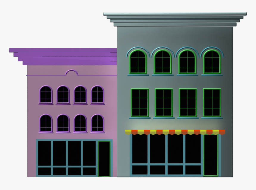Cartoon Buildings Png - Cartoon Buildings No Background, Transparent Png, Free Download