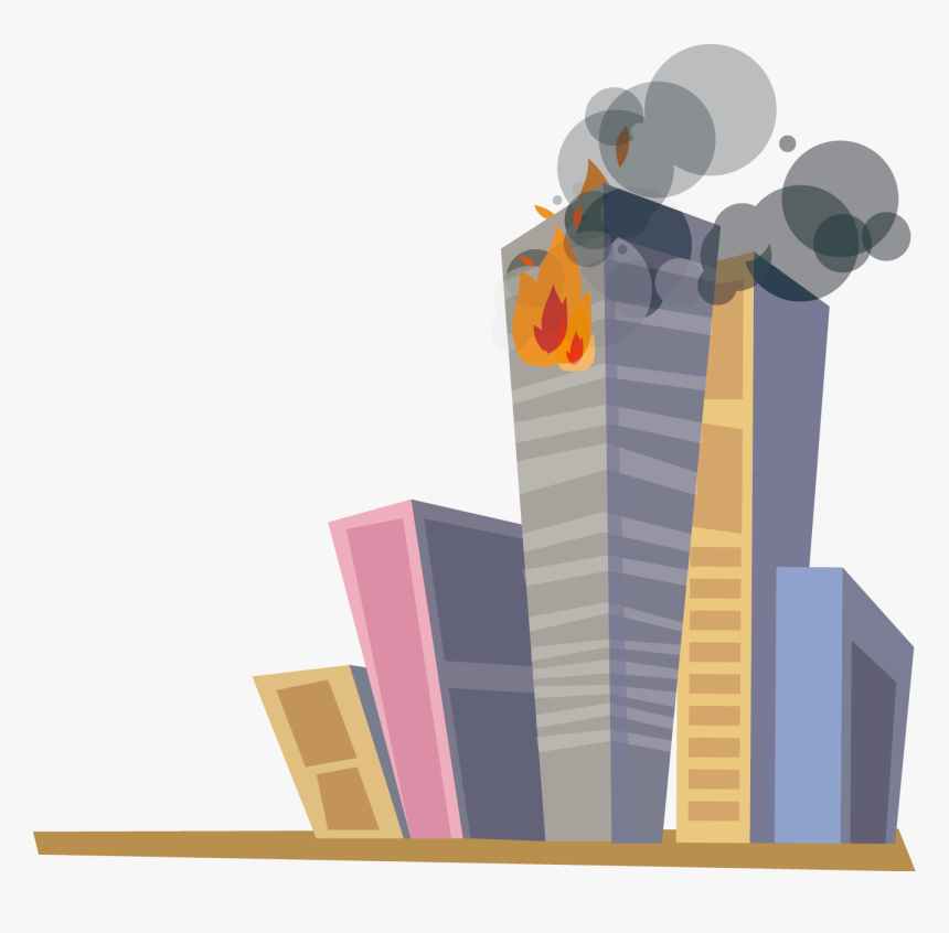 Cartoon Building On Fire - Building On Fire Animation, HD Png Download, Free Download