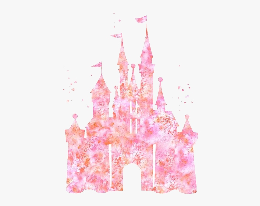 Disney Castle Clipart Free Clip Art Transparent Png - Pink Watercolor Disney Castle, Png Download, Free Download