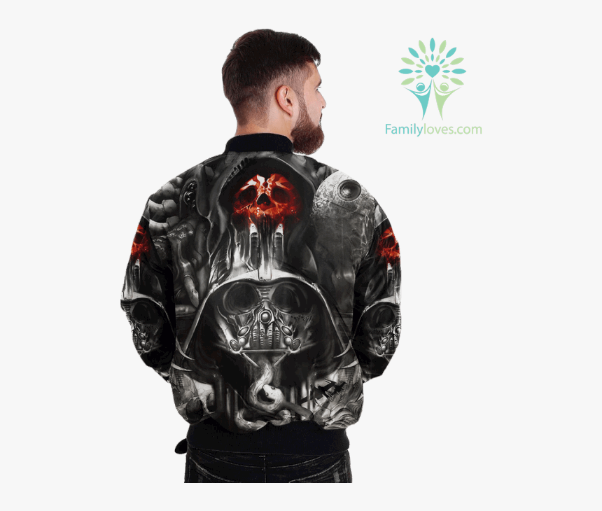 Scary Death Skull Over Print Jacket %tag Familyloves - Wear Australian Army Dog Tags, HD Png Download, Free Download