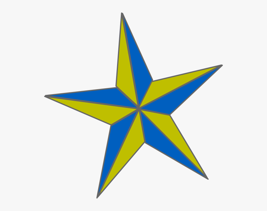 Transparent Gold - Blue And Gold Star, HD Png Download, Free Download