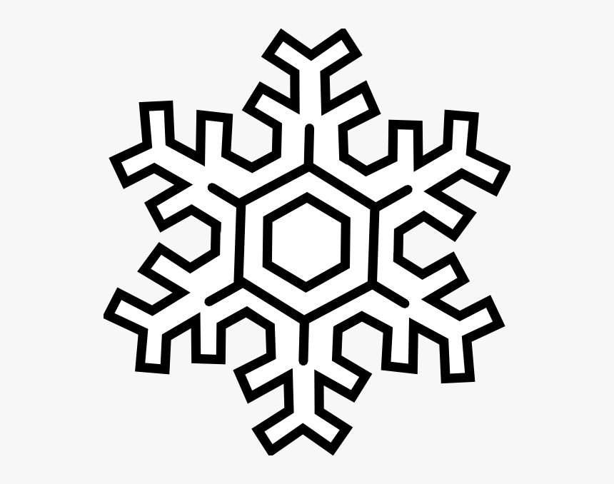 Snow Clip Art Black And White Clipart Download - Cartoon Snowflake Transparent Background, HD Png Download, Free Download