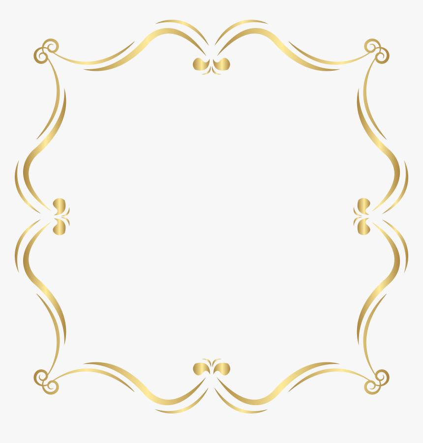 Gold Border Design Png, Transparent Png, Free Download