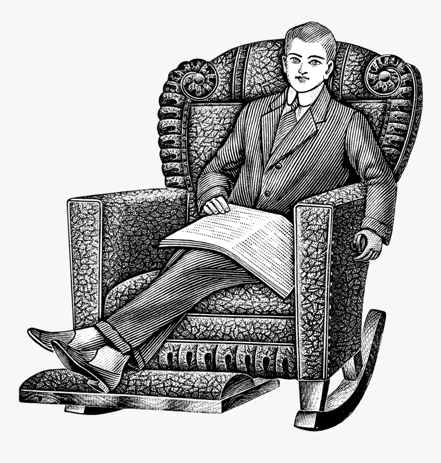 Old Man In Recliner Clipart, HD Png Download, Free Download