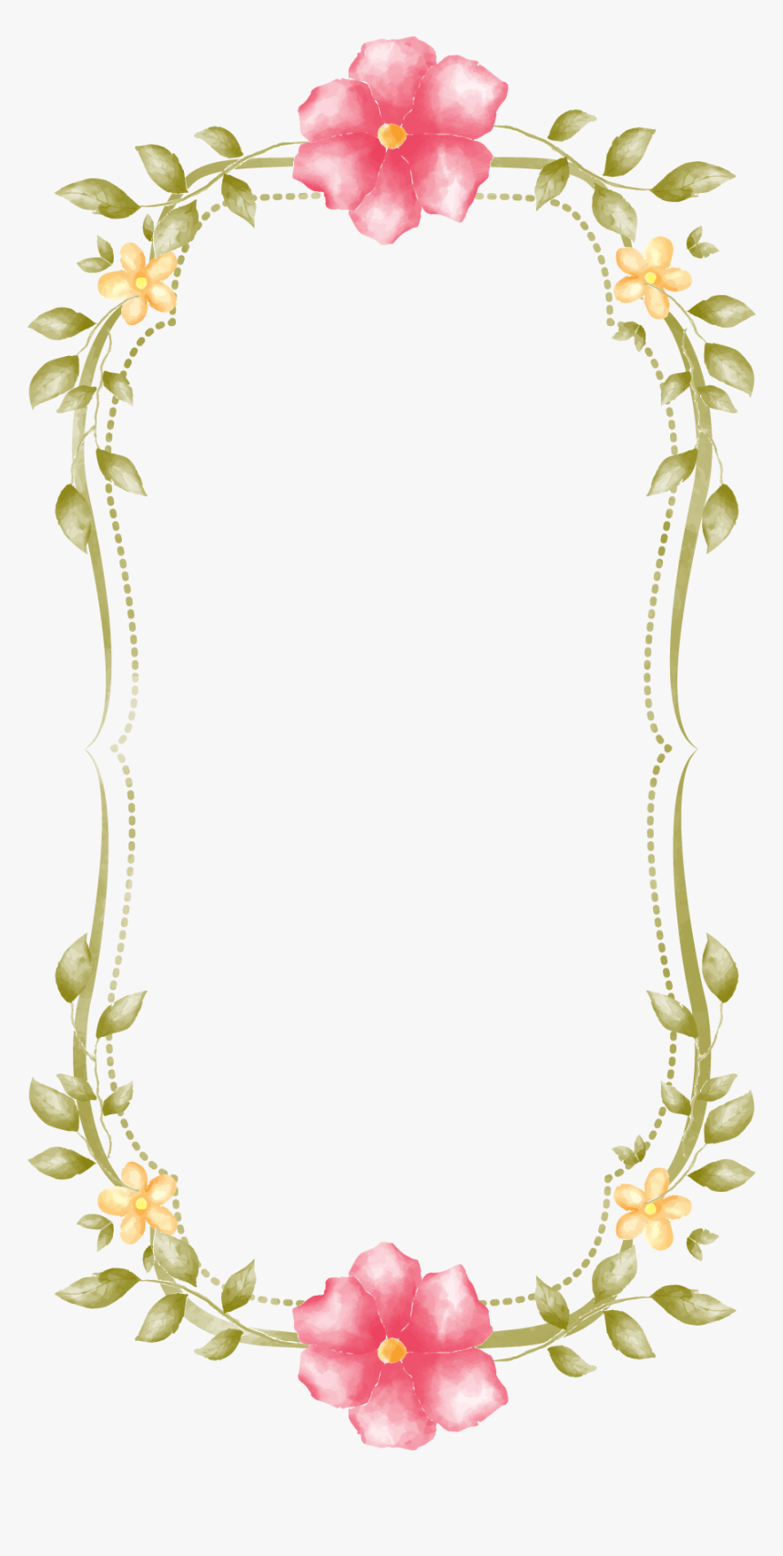 Decorative Border Clipart Png Image - Frame Shabby Chic Png, Transparent Png, Free Download