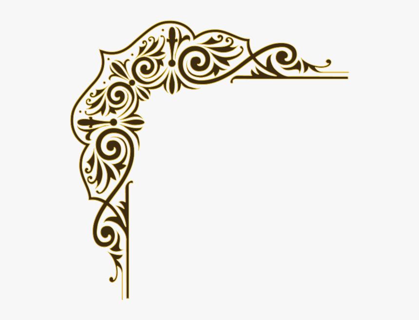 Beautiful Bordure With Bordure - Design Gold Corner Border Png, Transparent Png, Free Download