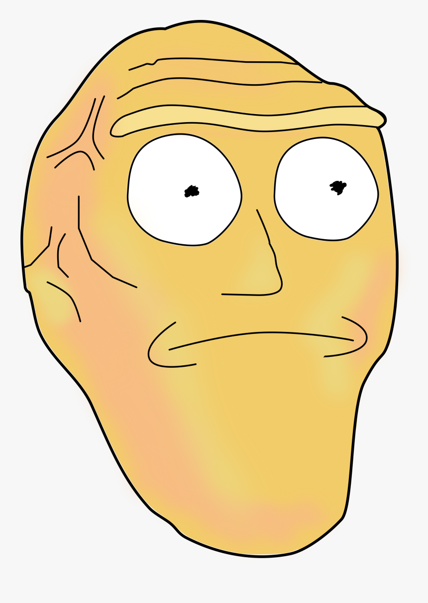 Rick And Morty Face Png - Head From Rick And Morty, Transparent Png, Free Download