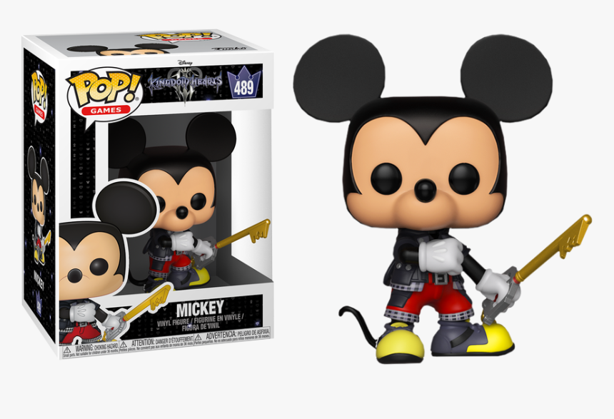 Transparent Funko Pop Clipart - Mickey Mouse Kingdom Hearts Funko Pop, HD Png Download, Free Download