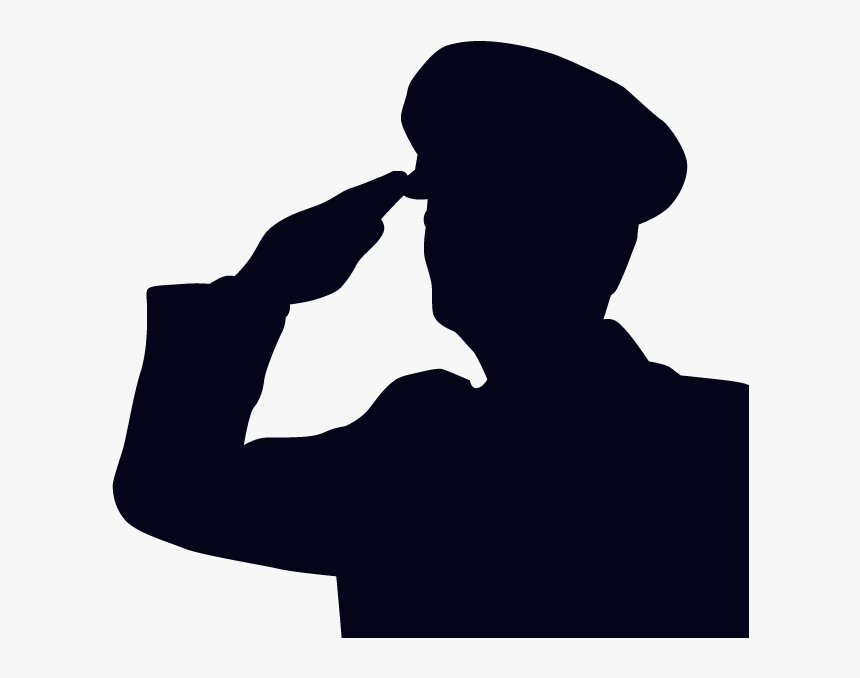 Salute Soldier Military Silhouette Clip Art - Silhouette Army Salute, HD Png Download, Free Download