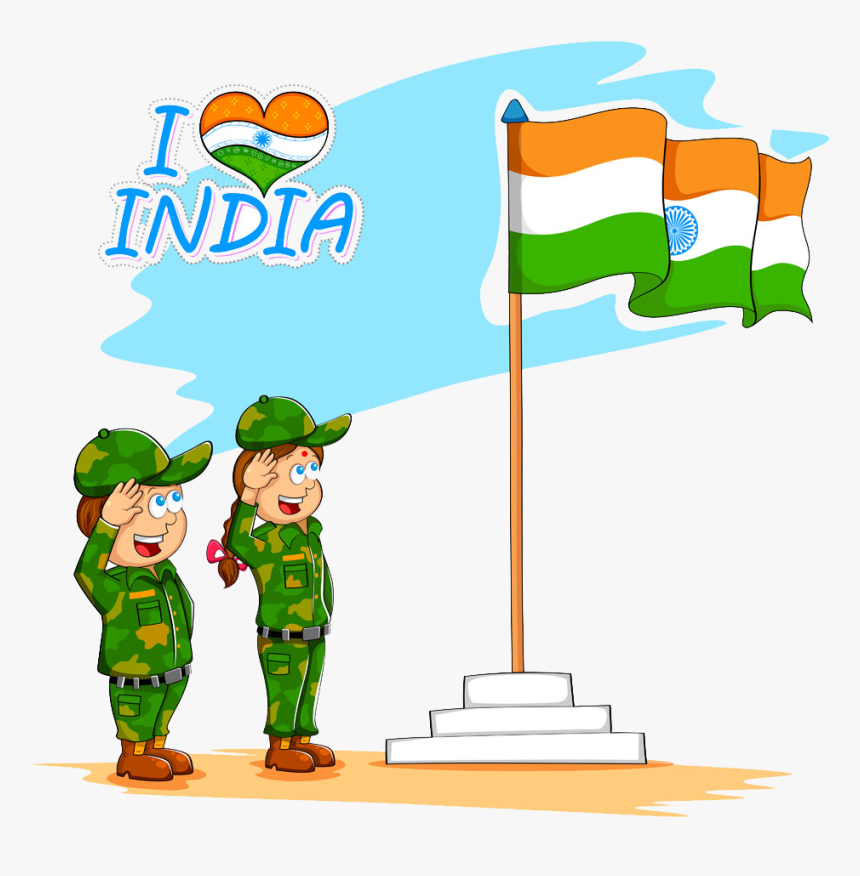 Flag Of India Drawing Clip Art Soldiers - Full Flag Of India, HD Png Download, Free Download