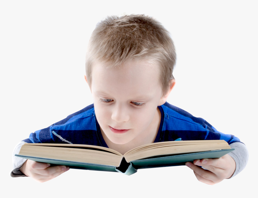 Boy Reading Books Png - Boy Reading Book Png, Transparent Png, Free Download
