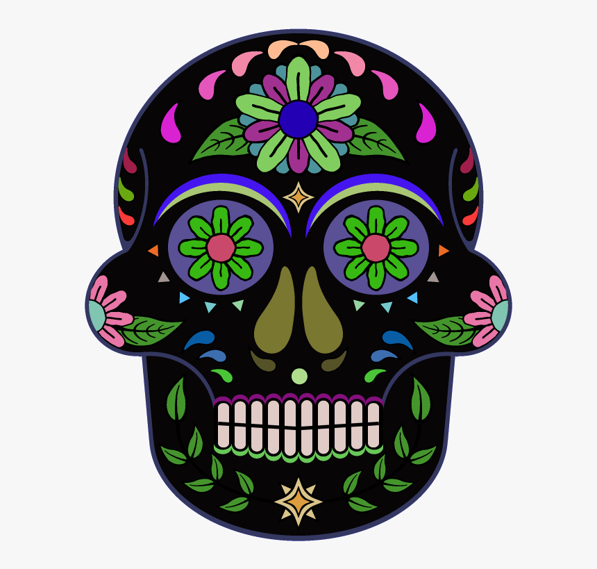 Day Of The Dead 800 X 800 Png Transparent - Day Of The Dead Skull Transparent, Png Download, Free Download