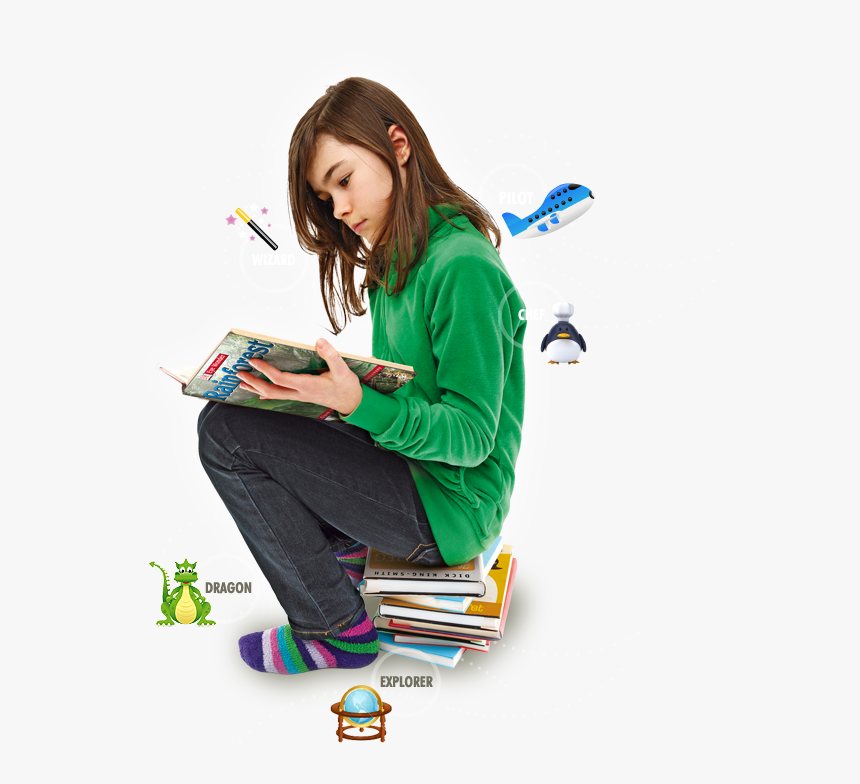 People Read Book Png - Kids Reading Book Png, Transparent Png, Free Download