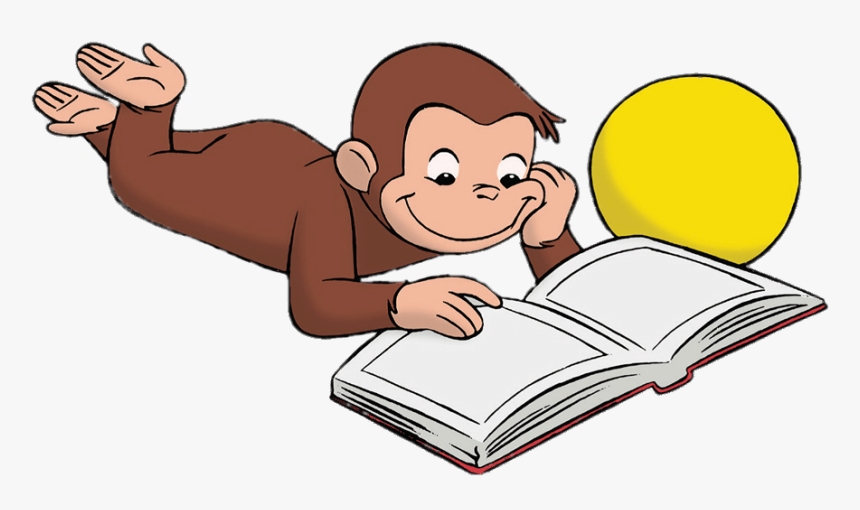 #reading #book #monkey #curiousgeorge #curious - Curious George Reading Clipart, HD Png Download, Free Download