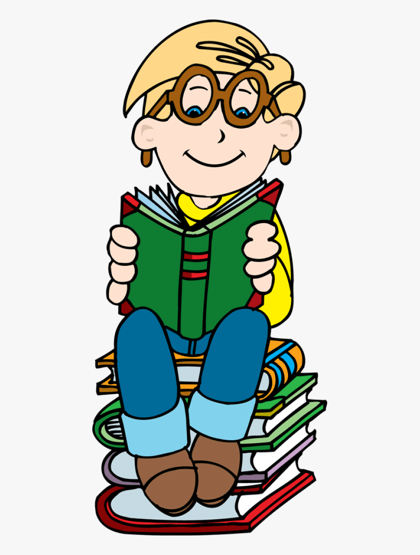 Girl Reading Book Clip Art - Wise Clipart, HD Png Download, Free Download