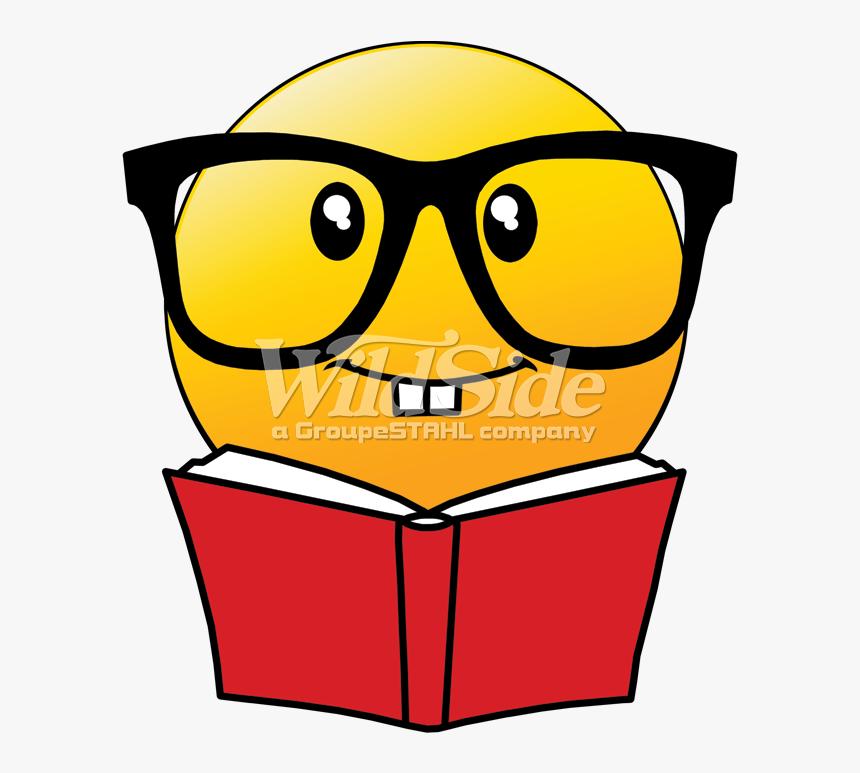 Emoji Reading Book With Glasses - Reading Book Emoji, HD Png Download, Free Download