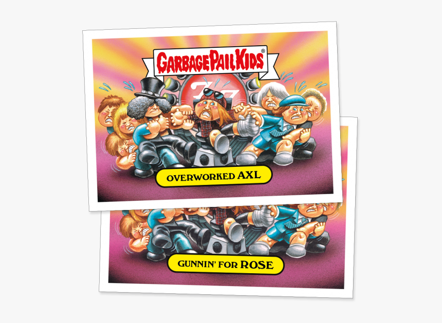 Overworked Axl Sticker - Best Of The Fest Garbage Pail Kids, HD Png Download, Free Download