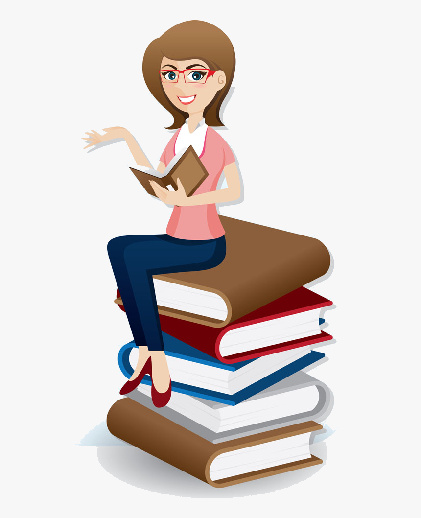 Professional Clipart Professional Girl - Clipart Woman Reading Books, HD Png Download, Free Download