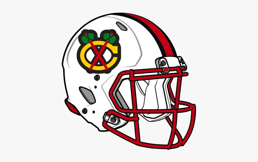 Chicago Blackhawks Football Helmet - Football American Helmet Drawing, HD Png Download, Free Download