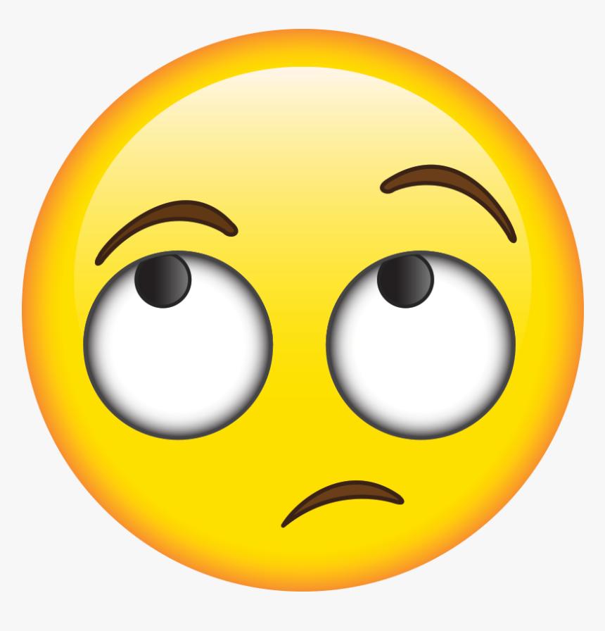 Emoji Clipart Student - Transparent Roll Eye Emoji, HD Png Download, Free Download