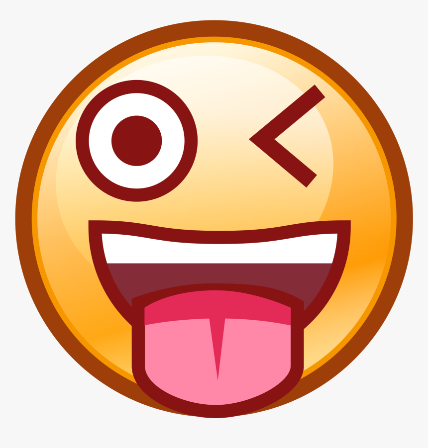 Transparent Wink Clipart - Winking Face With Stuck Out Tongue Png, Png Download, Free Download