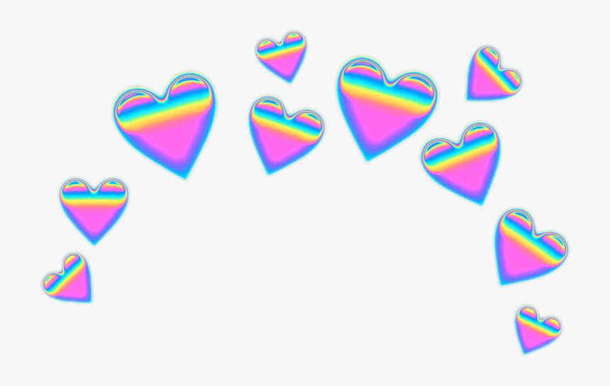 Transparent Martini Emoji Png - Blue Emoji Heart Crown, Png Download, Free Download