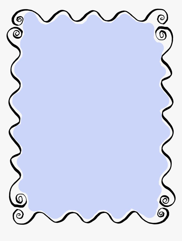 Find More Hand Drawn Frames At Digital Stamp Design - Curly Line Border Clipart, HD Png Download, Free Download