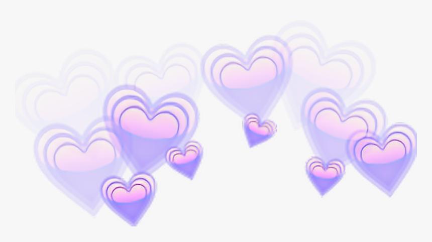 Corona De Corazones Png - Blue Heart Emoji Crown, Transparent Png, Free Download